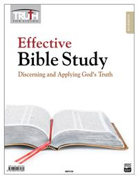 Image for Effective Bible Study: Discerning and Applying God's Truth Adult Transparency Packet