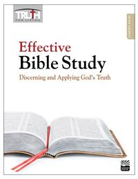 Image for Effective Bible Study: Discerning and Applying God's Truth Adult Bible Study Book