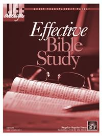 Image for Effective Bible Study  Adult Transparency Packet