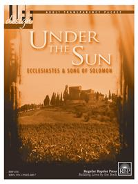 Image for 1720 Under the Sun: Ecclesiastes and Song of Solomon  Adult Transparency Packet