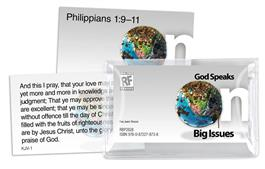 Image for God Speaks on Big Issues  Senior High Memory Verses Card Pack