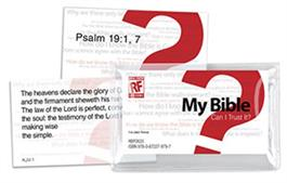 Image for My Bible: Can I Trust It?  Senior High Memory Verses Card Pack