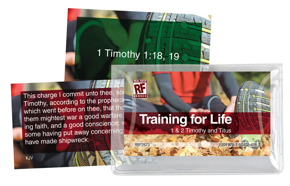Image for Training for Life: 1 & 2 Timothy and Titus   Senior High   Memory Verses Card Pack
