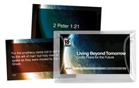 Image for Living Beyond Tomorrow: God's Plans for the Future   Senior High   Memory Verses Card Pack