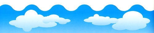 Image for Bulletin Board Border-Scalloped Clouds
