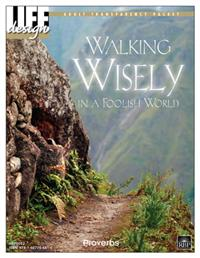 Image for Walking Wisely in a Foolish World: Proverbs   Adult Transparency Packet