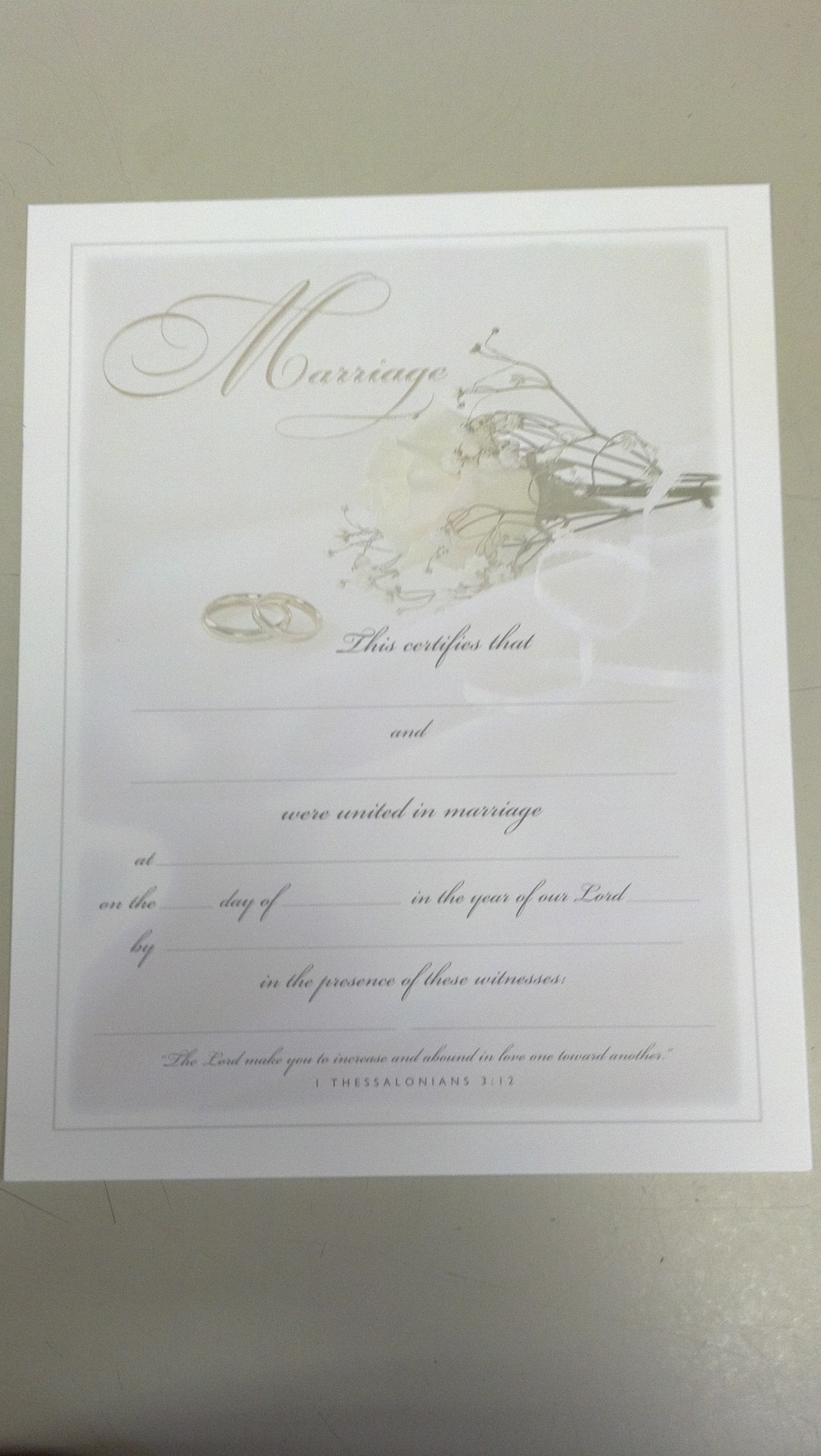 Image for Marriage Certificate (INDIVIDUAL)