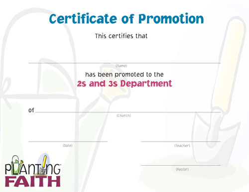 Image for Promotion Certificate RBP - 2s & 3s (pk10)
