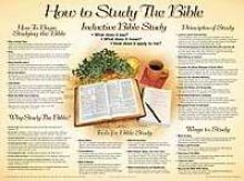 Image for How to Study the Bible Wall Chart-Laminated (How to Study the Bible Chart)