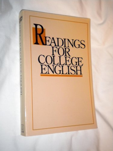 Image for Readings for College English (1990 publication)