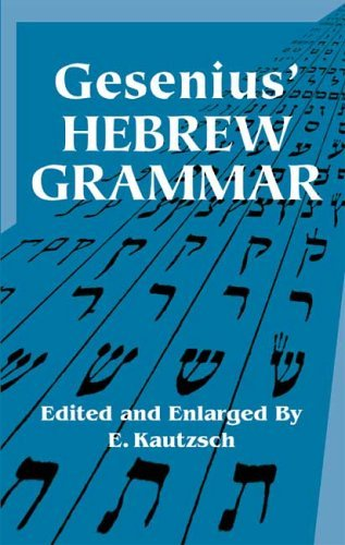 Image for Gesenius' Hebrew Grammar (Dover Books on Language)