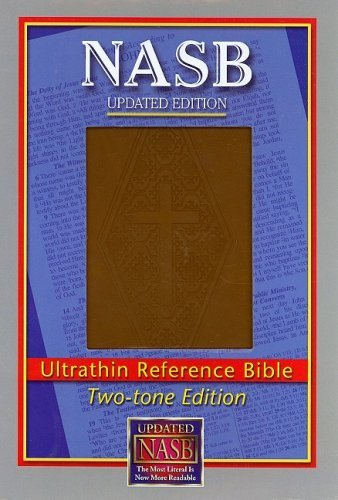 Image for NASB Ultrathin Reference Bible, Brown/Dimond stamped cover